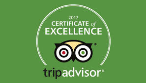 Trip Advisor Cerificate of Excellence